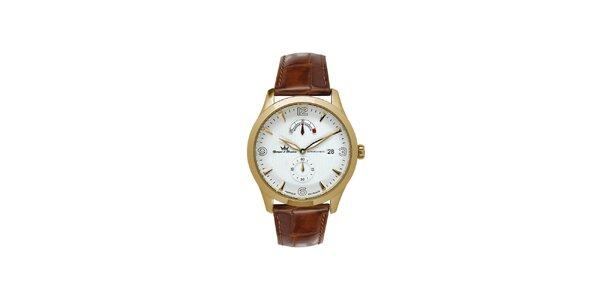 Pánské multifunkční zlaté ocelové hodinky Yonger & Bresson