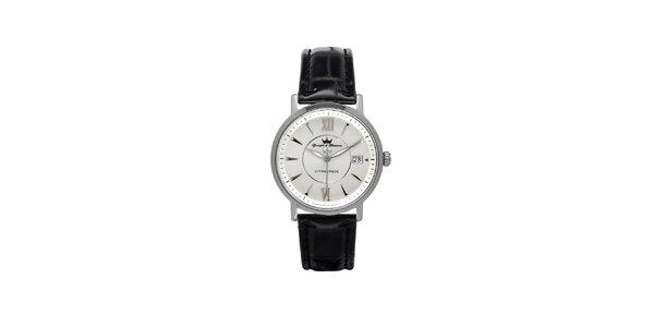 Pánské stříbrné ocelové hodinky Yonger & Bresson s šedým ciferníkem