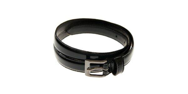 Dámský černý lakovaný pásek Gas