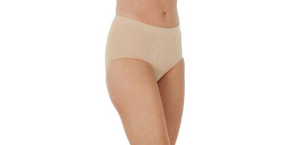 Set tří dámských béžových stahovacích kalhotek Marie Claire