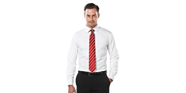 Pánská bílá obleková slim-fit košile Vincenzo Boretti