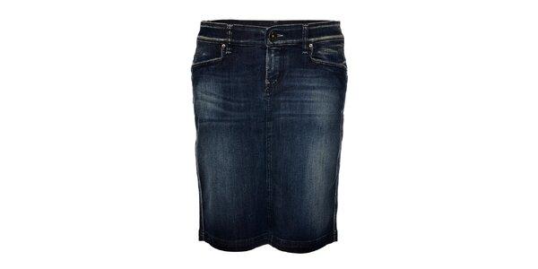 Dámská tmavě modrá džínová sukně Gas