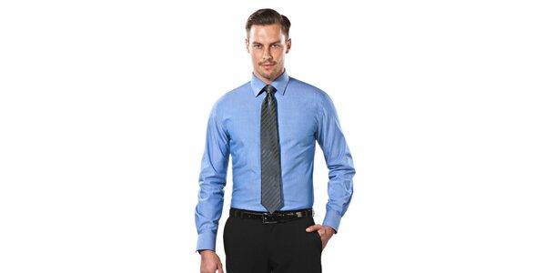 Pánská nebesky modrá slim-fit košile Vincenzo Boretti