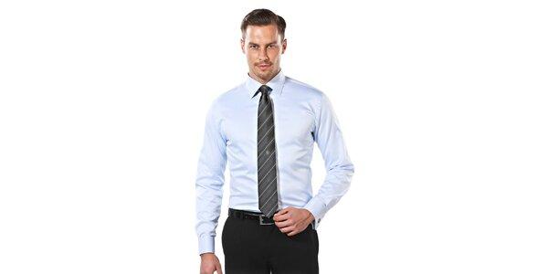 Pánská světle modrá slim-fit košile Vincenzo Boretti