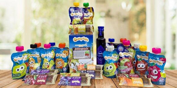 Balíčky produktů Ovocňák: pyré, mošty i sirupy