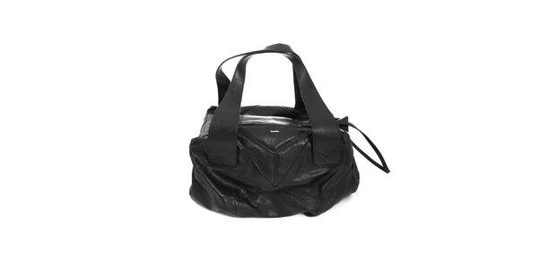 Prostorná černá kabelka Diesel s velkými uchy