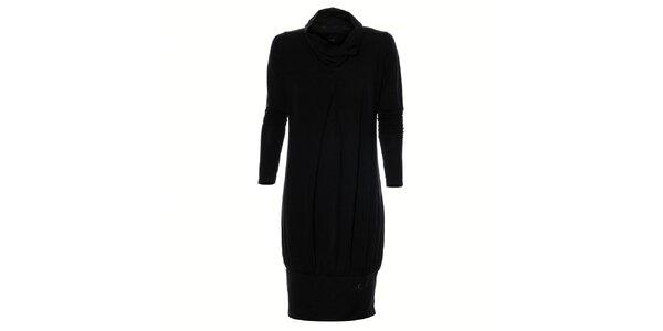Dámské černé nabírané šaty Gas