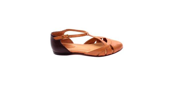 Dámské koňakovo-hnědé uzavřené sandálky Bagatt