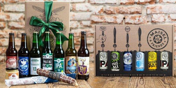 Řemeslná piva ze světa i Čech s masem či paštikou