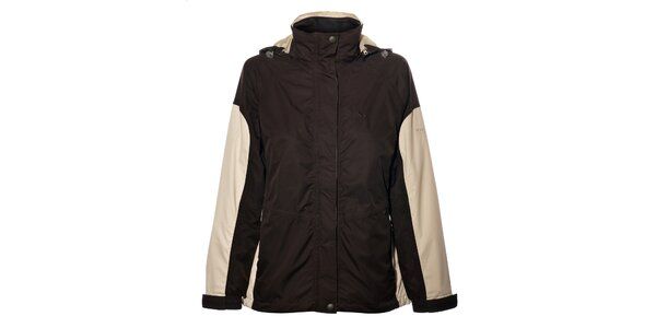 Dámská tmavě hnědá bunda Northland Professional s fleecovou vložkou