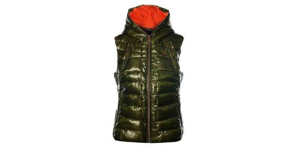 Dámská tmavě zelená prošívaná vesta Northland Professional s metalickým odleskem