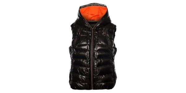 Dámská tmavě hnědá prošívaná vesta Northland Professional s metalickým odleskem