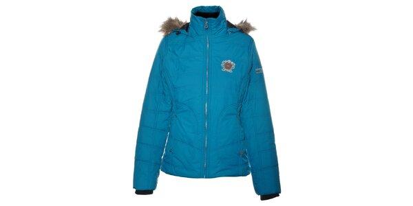 Dámská tyrkysově modrá bunda Northland Professional s kožíškem