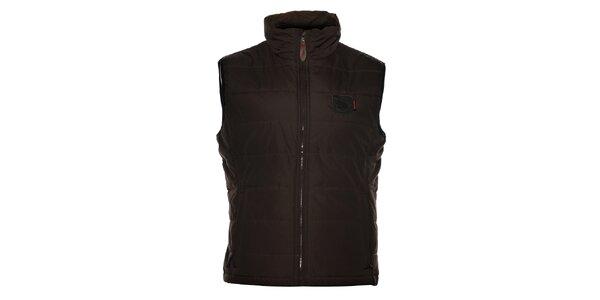 Pánská tmavě hnědá prošívaná vesta Northland Professional