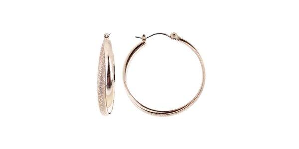 Dámské zlatě tónované kruhové náušnice Majique