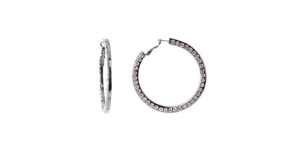 Dámské kruhové náušnice Majique s krystaly