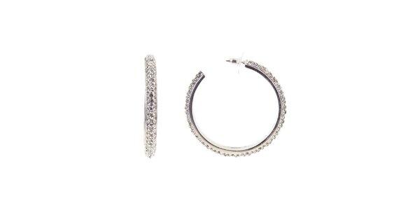 Dámské kruhové náušnice Majique ve stříbrné barvě