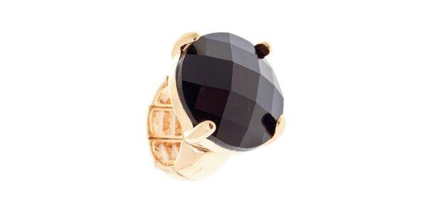Dámský prsten s velkým černým krystalem Majique