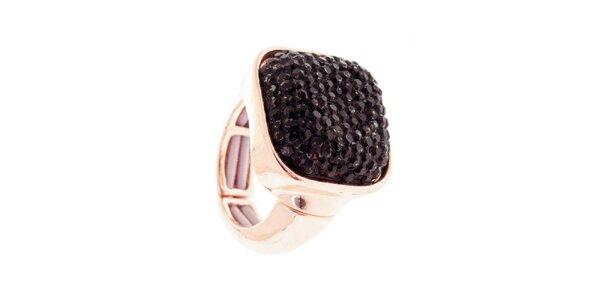 Dámský prsten s černým krystalem Majique