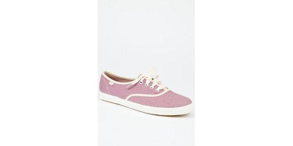 Dámské světle růžové plátěné tenisky Keds