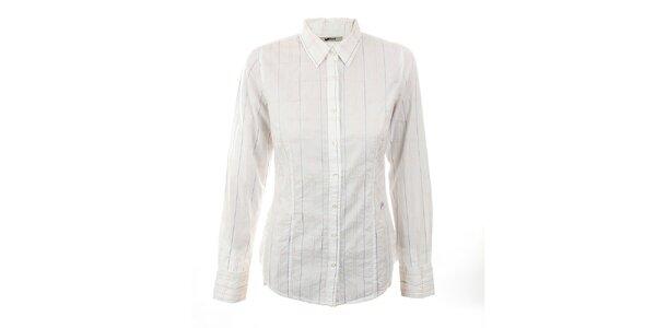 Dámská bílá košile s pastelovými švy GAS