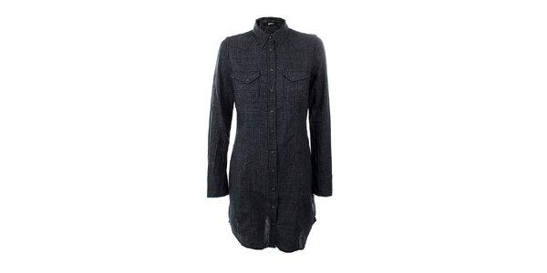 Dámské šedo-černé košilové šaty GAS