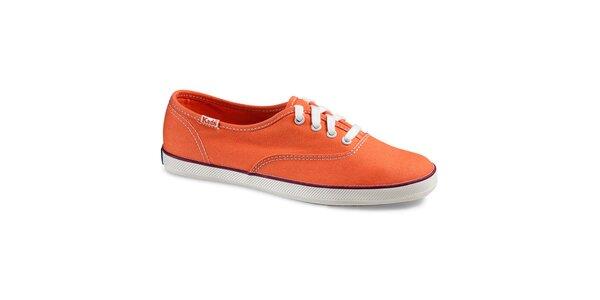 Dámské plátěné oranžové tenisky Keds