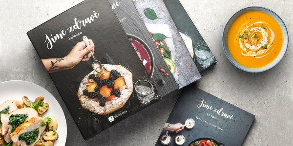 Jíme zdravě: tištěná kniha s fitrecepty i box knih