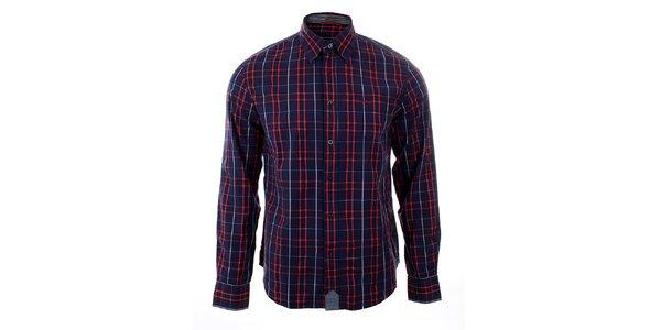 Pánská modro-červená kostkovaná košile GAS
