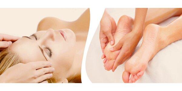 Indická masáž hlavy nebo masáž dolních končetin