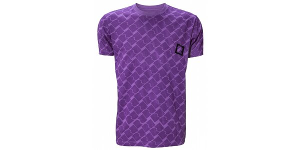 Pánské purpurové tričko Fundango s potiskem