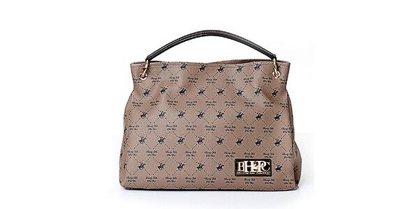 Dámská šedobéžová kabelka s koníky Beverly Hills Polo Club