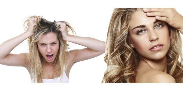 Odborné ošetření proti padání, maštění i třepení vlasů