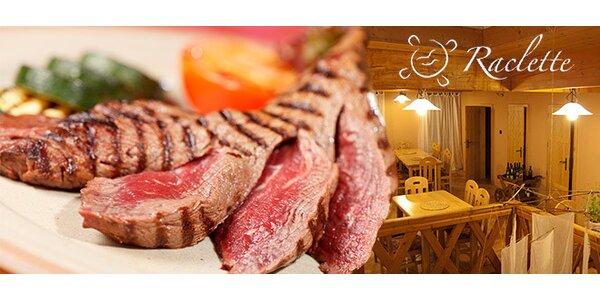 Raclette pro DVA - tři druhy masa