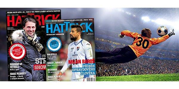 Roční předplatné fotbalového magazínu Hattrick s poštovným v ceně.