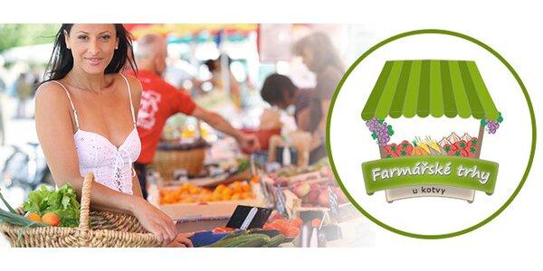 30% sleva do všech stánků na Farmářských trzích u Kotvy