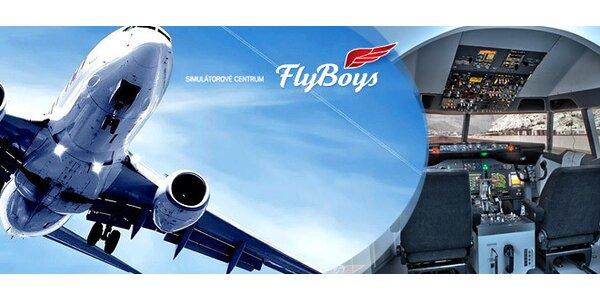 60minutový let na simulátoru Boeing 737