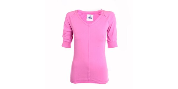 Dámské růžové tričko se 3/4 rukávy Freddy