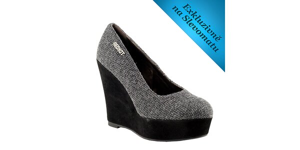 Dámské šedé boty na klínku Red Hot