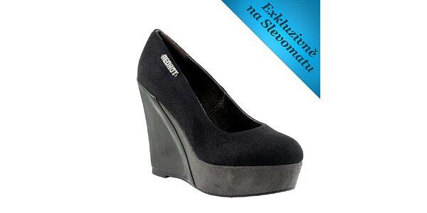 Dámské černo-šedé boty na klínku Red Hot