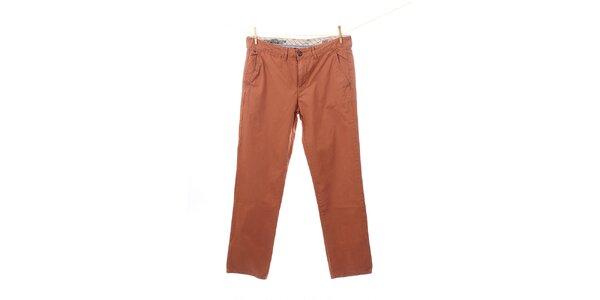 Pánské cihlově oranžové kalhoty Tommy Hilfiger