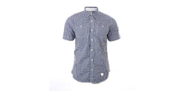 Pánská modro-bílá kostkovaná košile Tommy Hilfiger