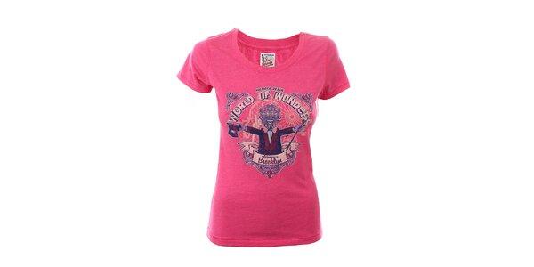 Dámské růžové tričko s potiskem Tommy Hilfiger