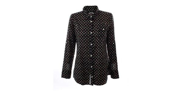 Dámská černá košile s vzorkem Tommy Hilfiger