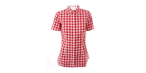 Dámská červeno-bílá kostkovaná košile Tommy Hilfiger