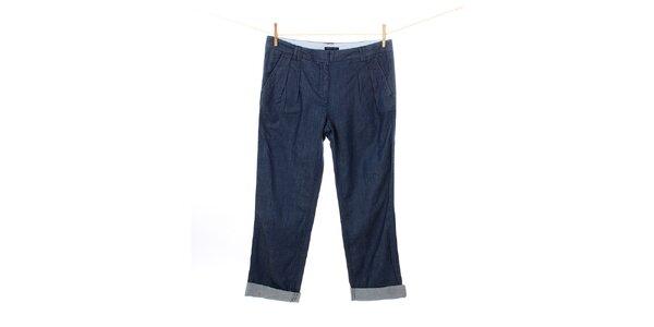 Dámské modré džíny Tommy Hilfiger s nabíráním v pase