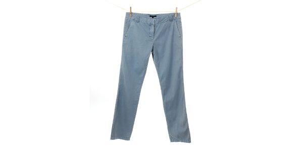 Dámské modré plátěné kalhoty Tommy Hilfiger