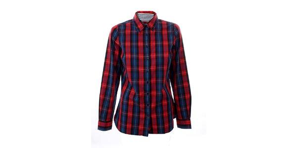Dámská červeno-modrá kostkovaná košile Tommy Hilfiger