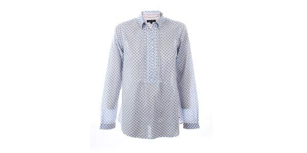 Dámská modro-bílá košile s potiskem kytiček Tommy Hilfiger