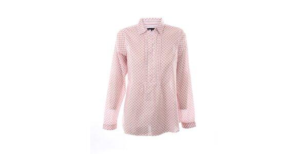 Dámská růžovo-bílá košile s potiskem kytiček Tommy Hilfiger